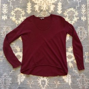 Red Helmut Lang Sweater